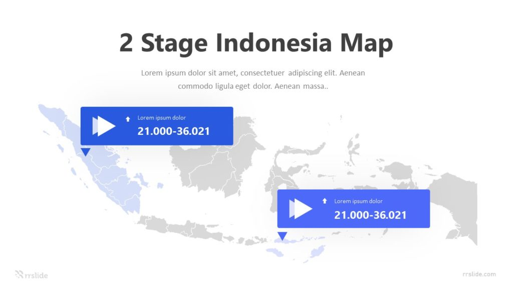 2 Stage Indonesia Map Infographic Template