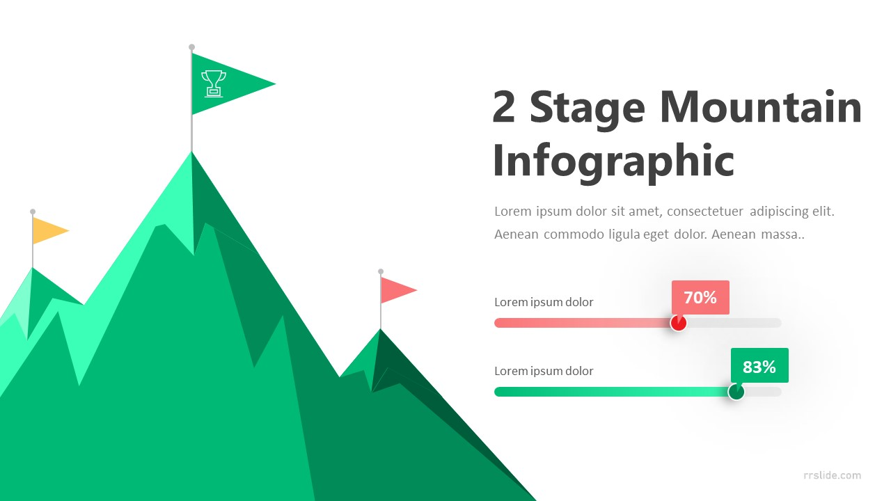 2 Stage Mountain Infographic Template