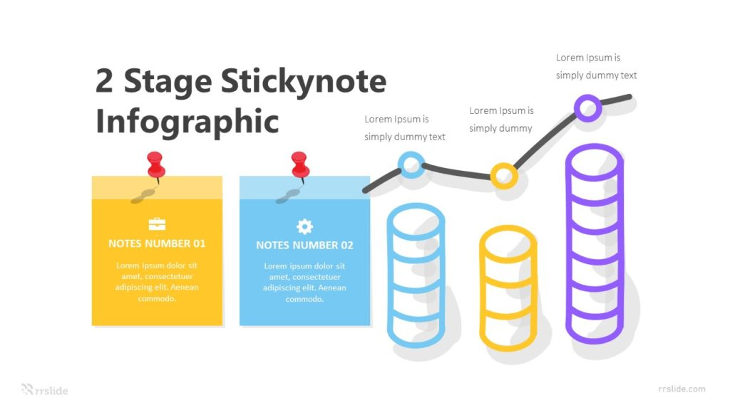 2 Stage Stickynote Infographic Template