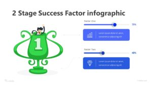 2 Stage Success Factor infographic Template