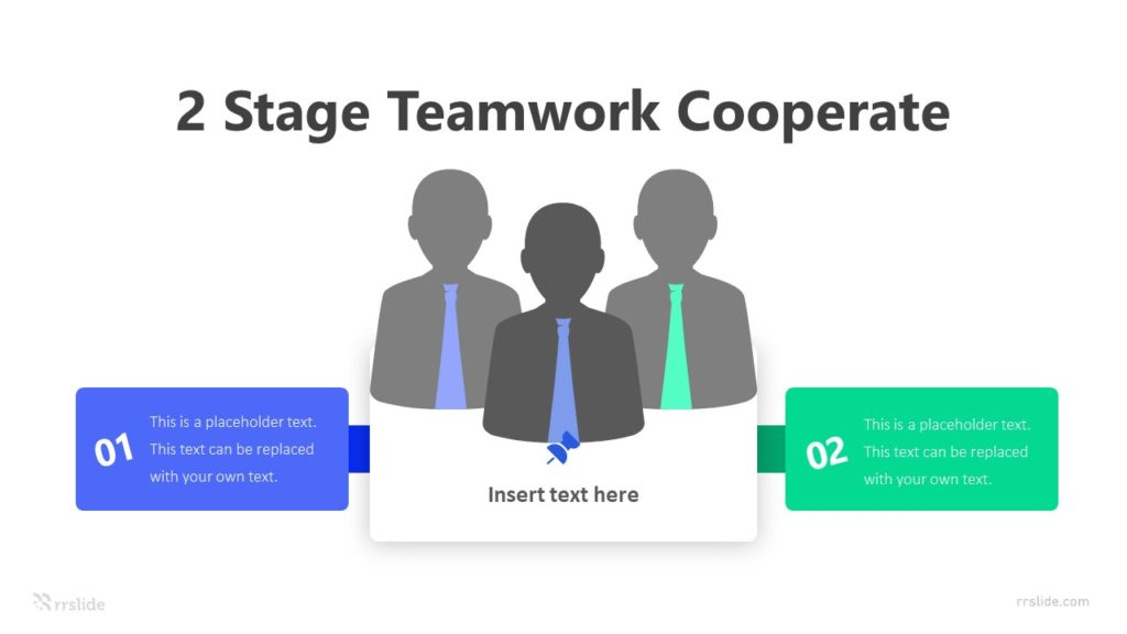 2 Stage Teamwork Cooperate Infographic Template