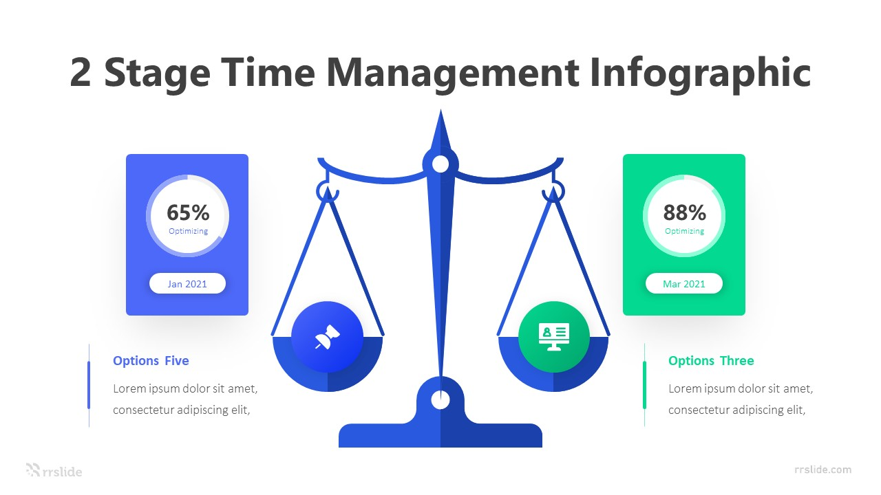 2 Stage Time Management Infographic Template