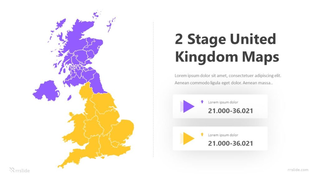 2 Stage United Kingdom Maps Infographic Template