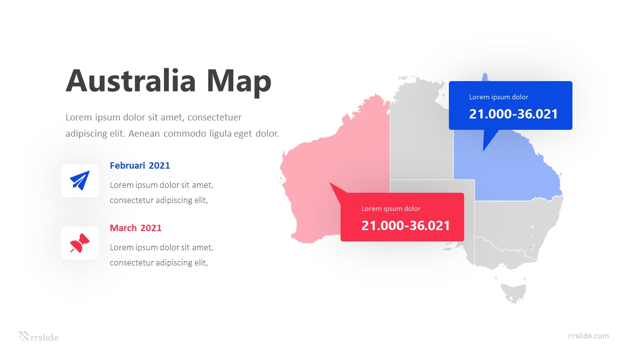 2 Step Australia Map Infographic Template