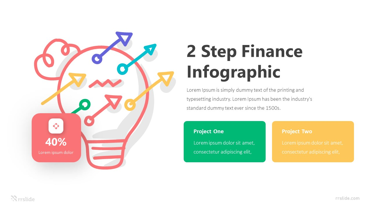 2 Step Finance Infographic Template