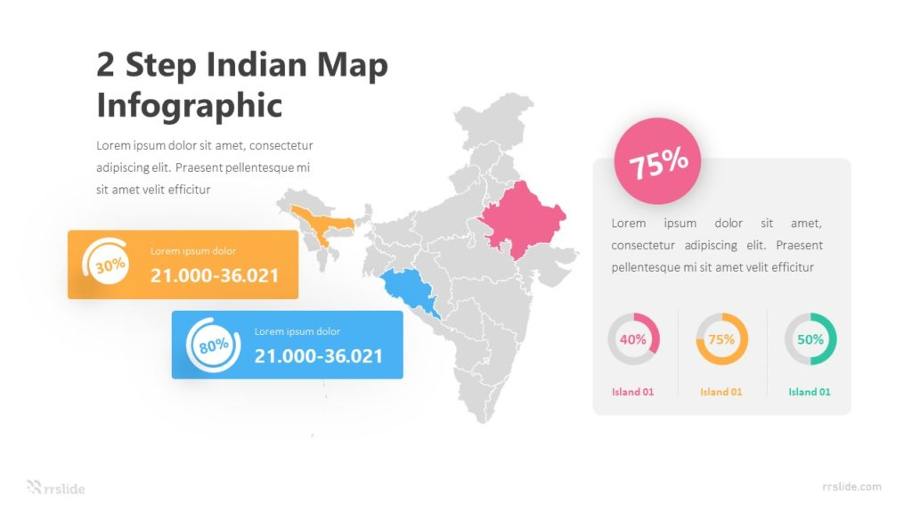 2 Step Indian Map Infographic Template
