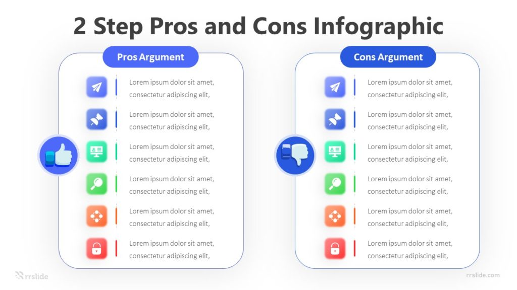 2 Step Pros and Cons Infographic Template