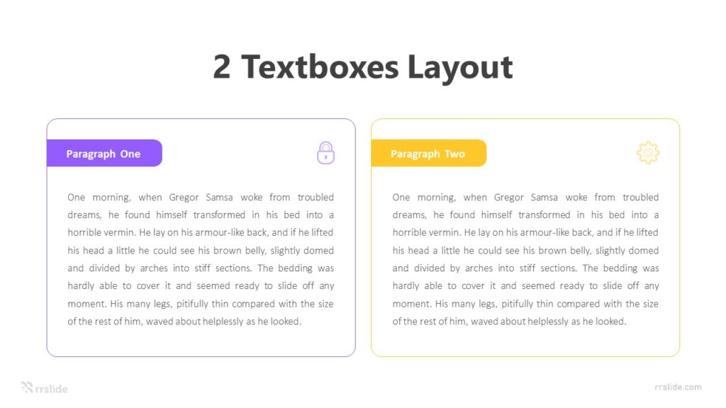 2 TextBoxes Layout Infographic Template