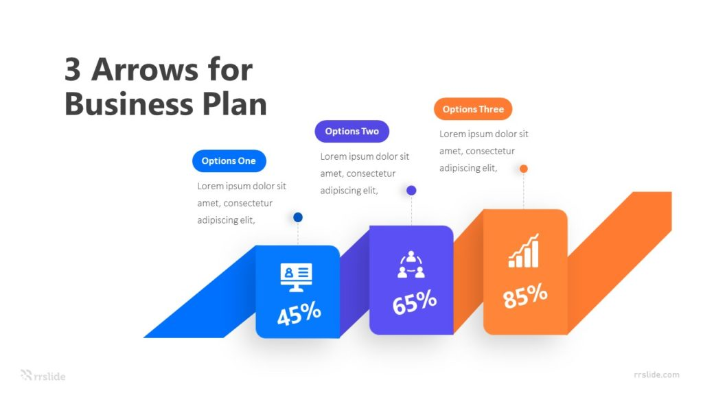 3 Arrows for Business Plan Infographic Template