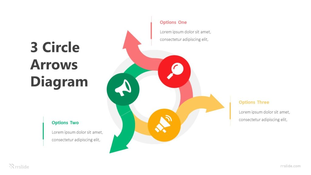 3 Circle Arrows Diagram Infographic Template