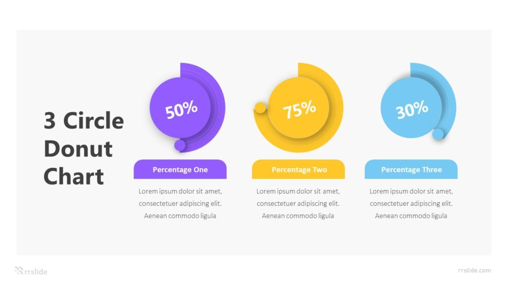 3 Circle Donut Chart Infographic Template