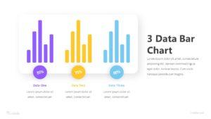 3 Data Bar Chart Infographic Template