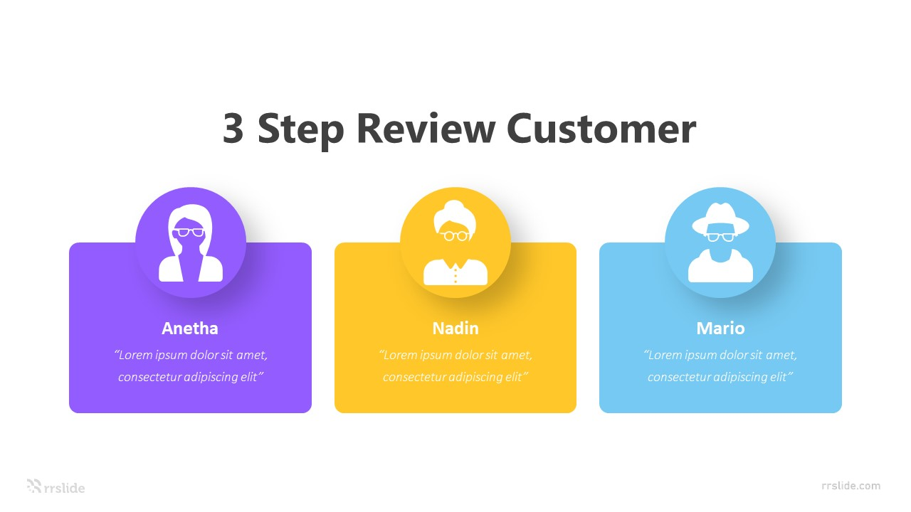 3 Human Customer Review Infographic Template