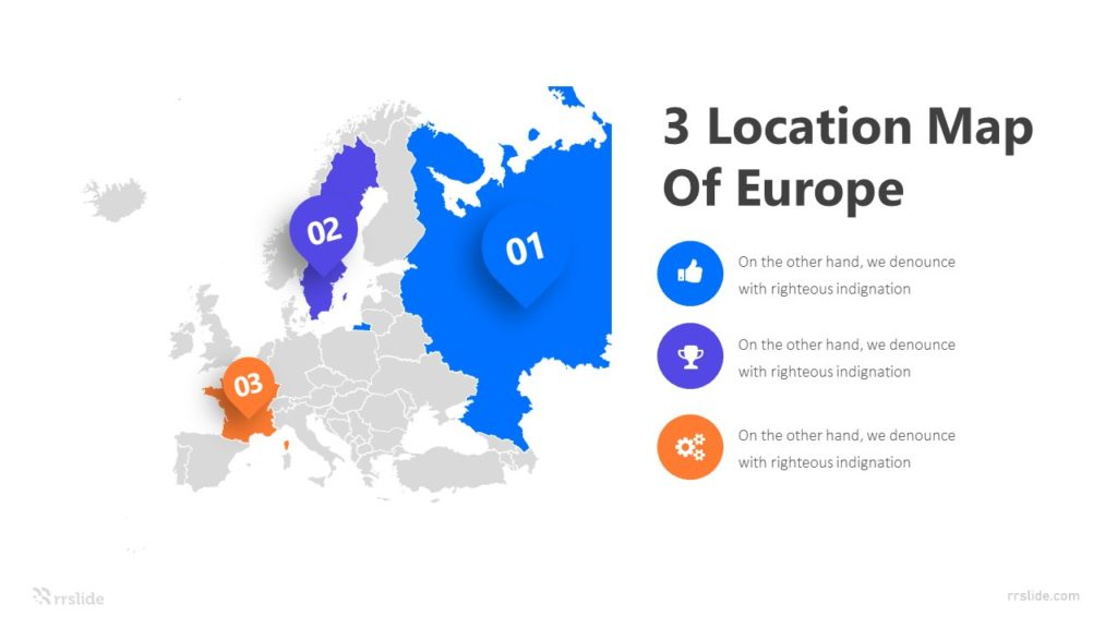 3 Location Map Of Europe Infographic Template