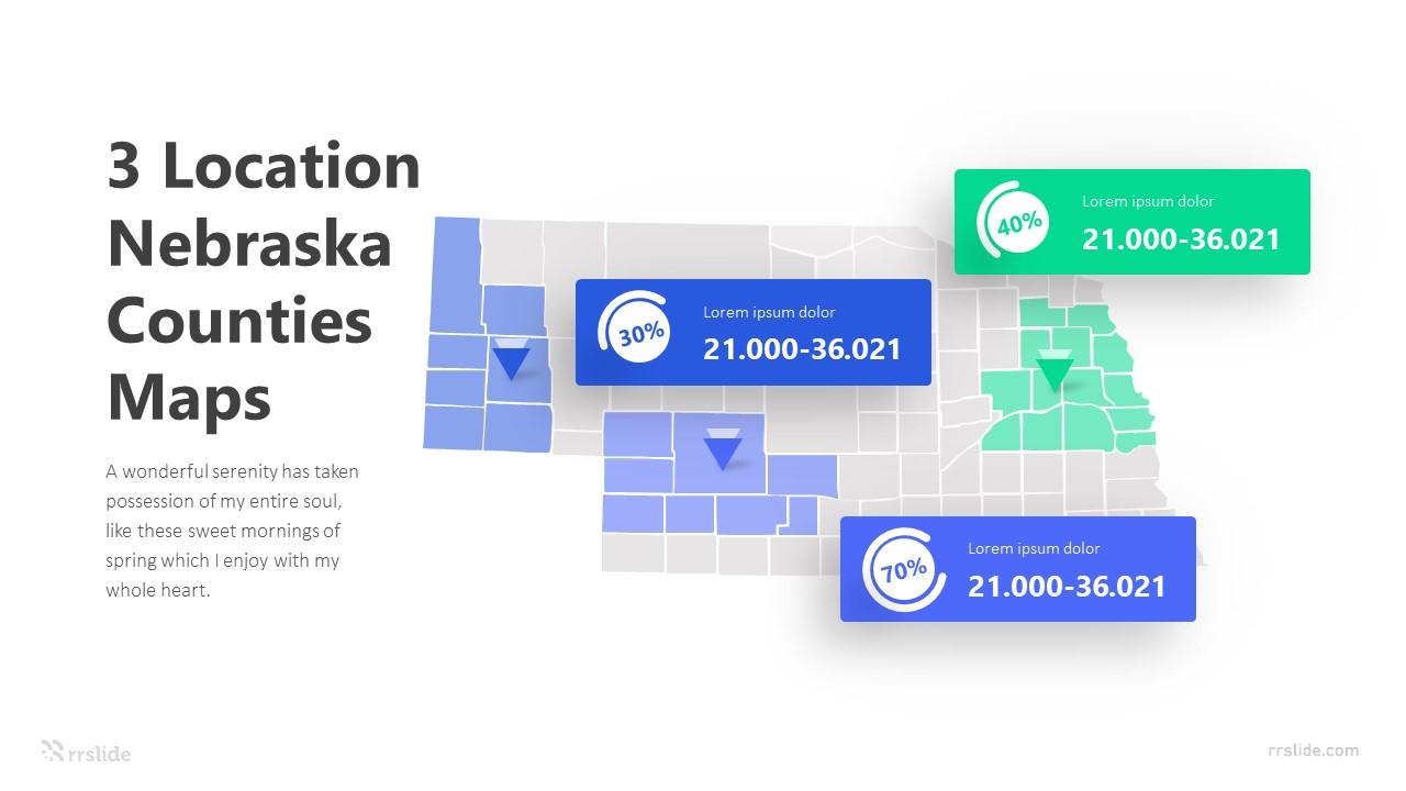 3 Location Nebraska Counties Maps Infographic Template
