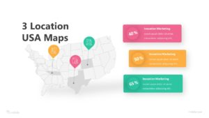3 Location USA Maps Infographic Template