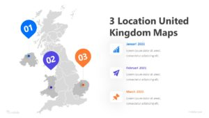 3 Location United Kingdom Maps Infographic Template