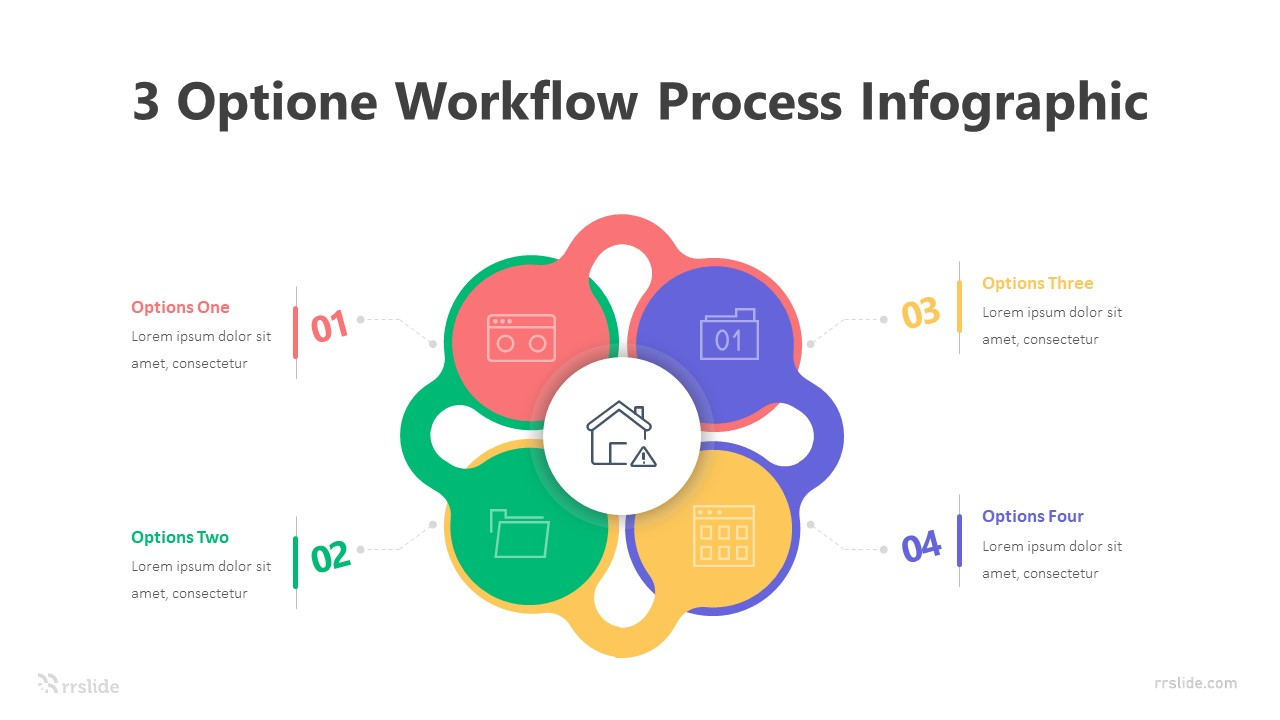 3 Optione Workflow Process Infographic Template