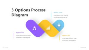 3 Options Process Diagram Infographic Template