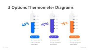3 Options Thermometer Diagrams Infographic Template