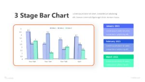 3 Stage Bar Chart Infographic Template