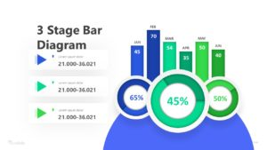 3 Stage Bar Diagram Infographic Template