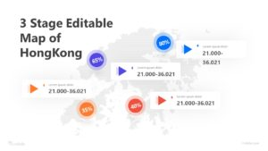 3 Stage Editable-Map of HongKong Infographic Template