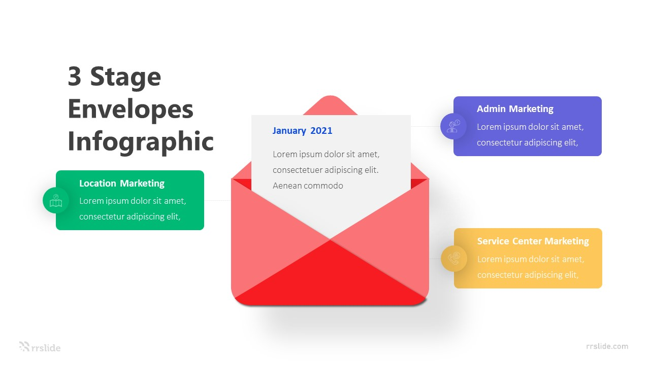 3 Stage Envelopes Infographic Template