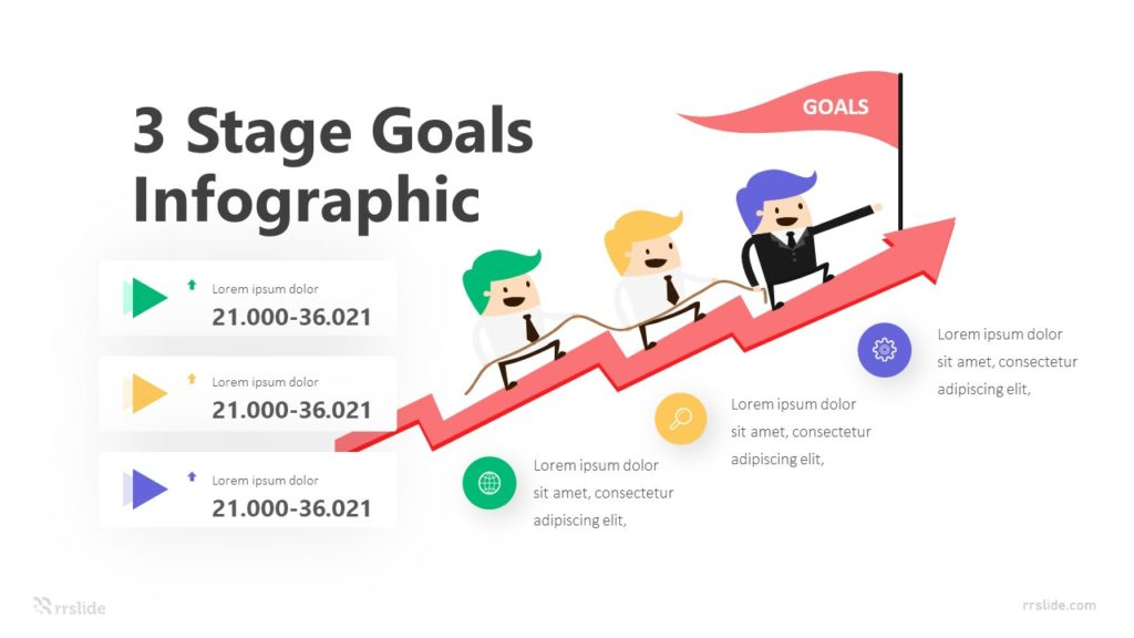 3 Stage Goals Infographic Template