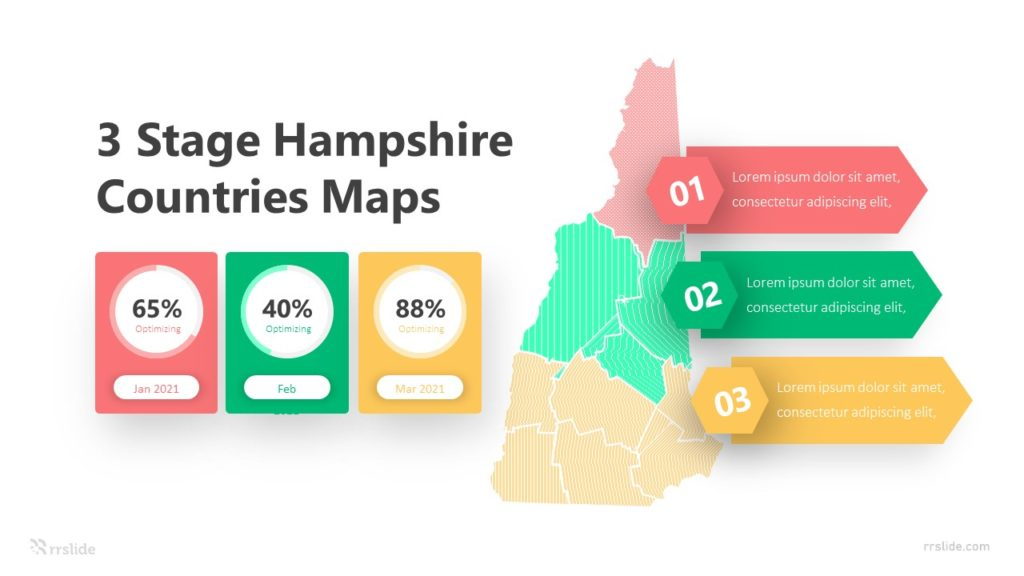 3 Stage Hampshire Countries Maps Infographic Template