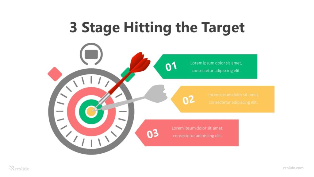 3 Stage Hitting the Target Infographic Template