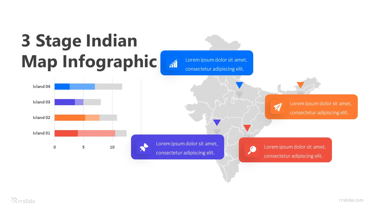 3 Stage Indian Map Infographic Template