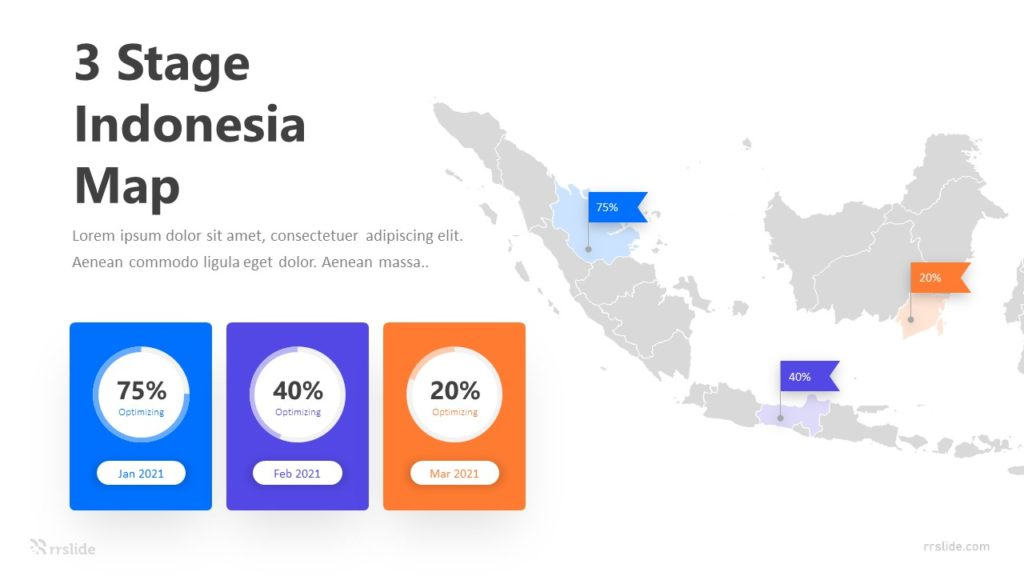 3 Stage Indonesia Map Infographic Template