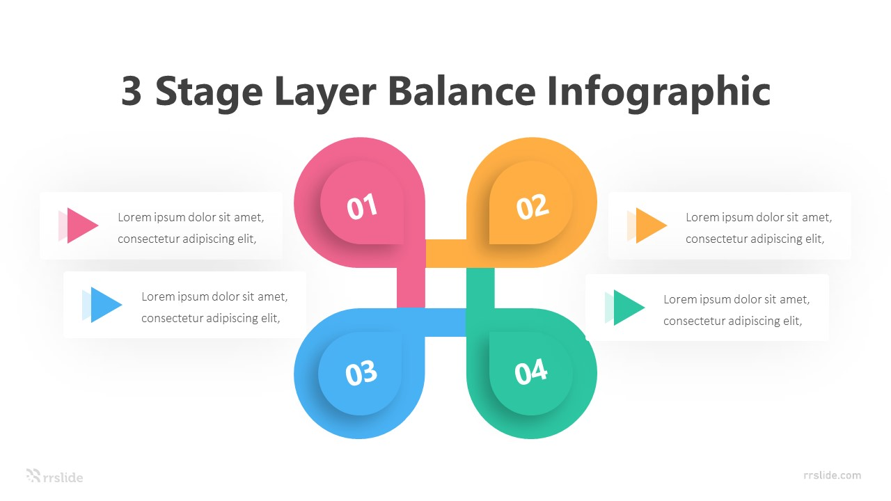 3 Stage Layer Balance Infographic Template