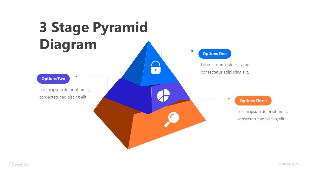 3 Stage Pyramid Diagram Infographic Template