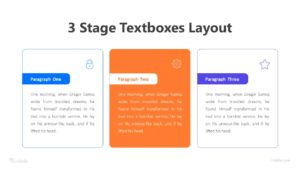 3 Stage Textboxes Layout Infographic Template