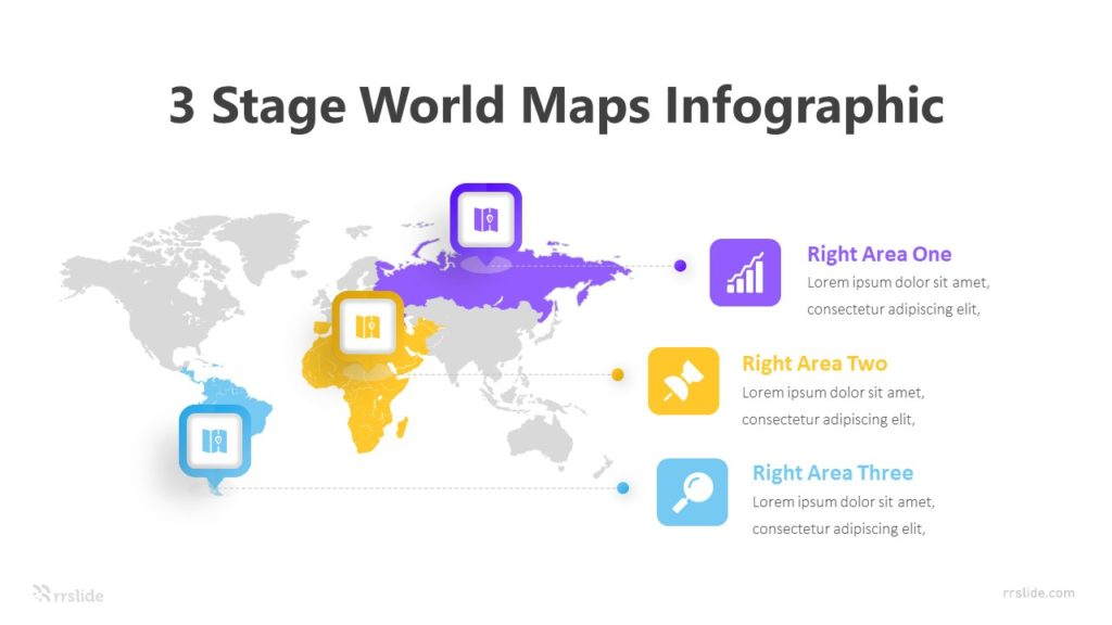 3 Stage World Maps Infographic Template