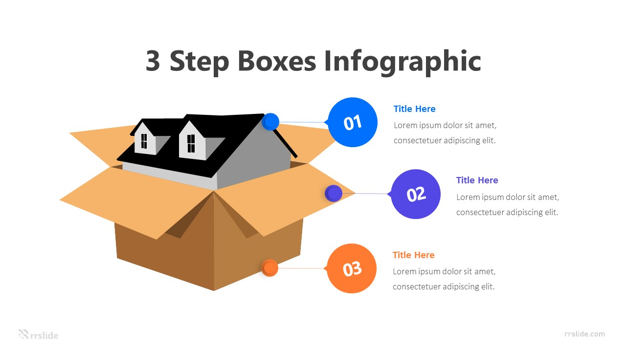 3 Step Boxes Infographic Template
