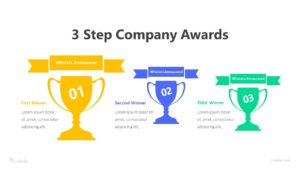 3 Step Company Awards Infographic Template