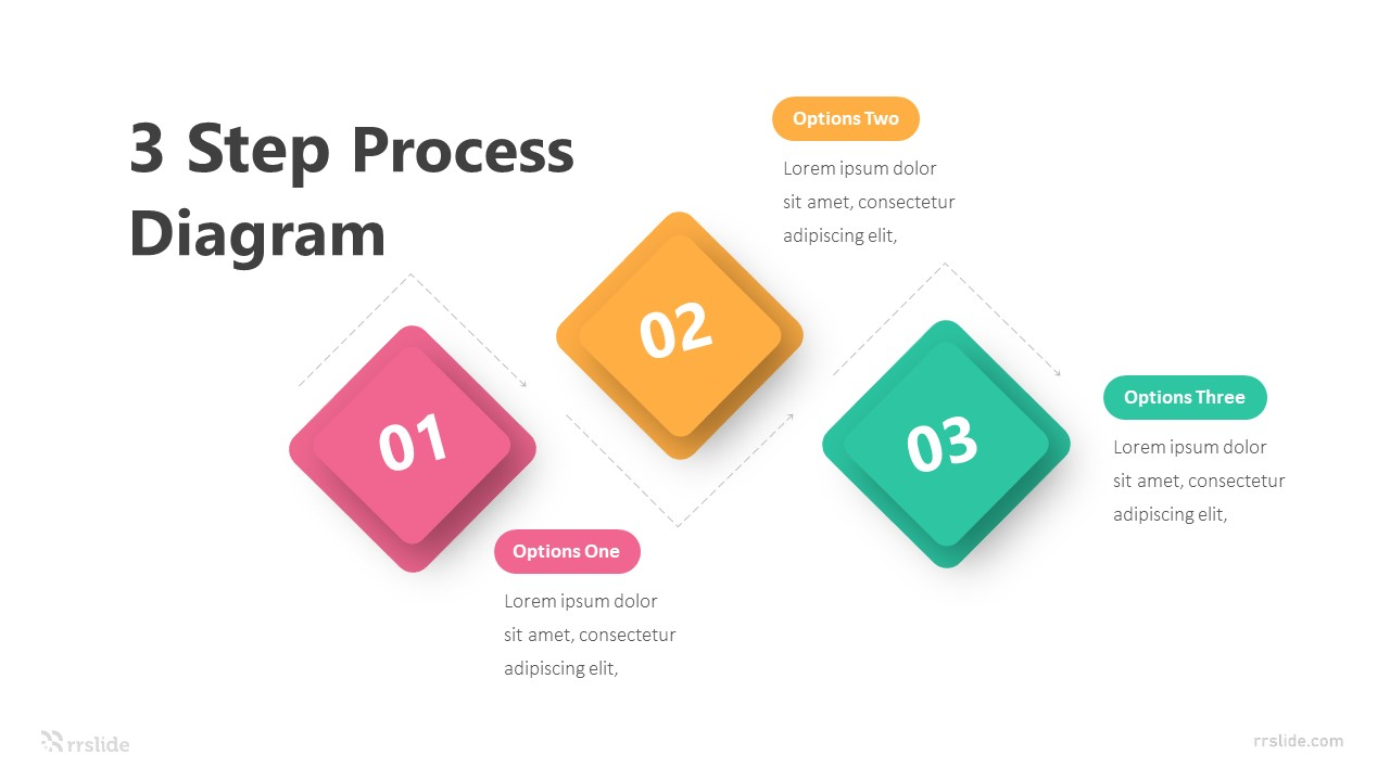 3 Step Process Diagram Infographic Template