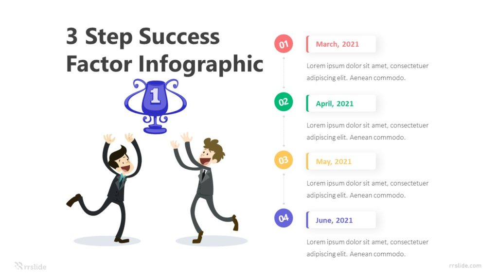 3 Step Success Factor Infographic Template