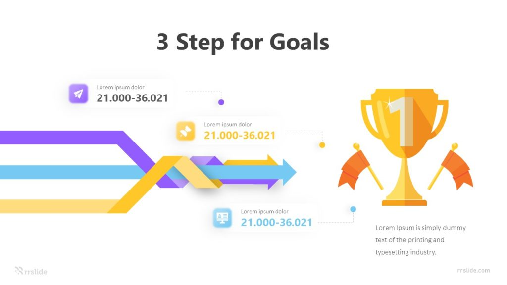 3 Step for Goals Infographic Template