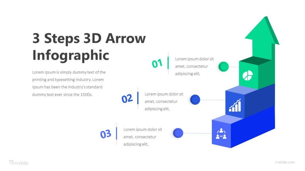 3 Steps 3D Arrow Infographic Template