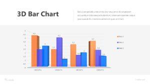 3D Bar Chart Infographic Template