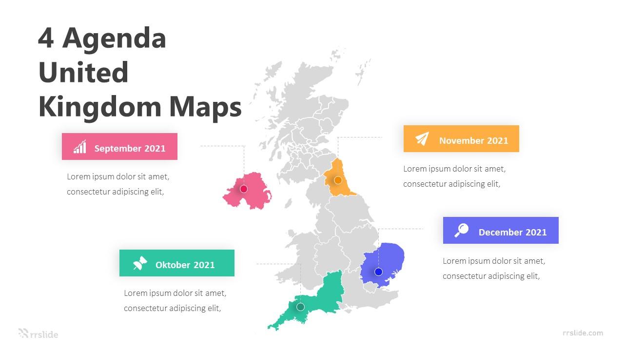 4 Agenda United Kingdom Maps Infographic Template
