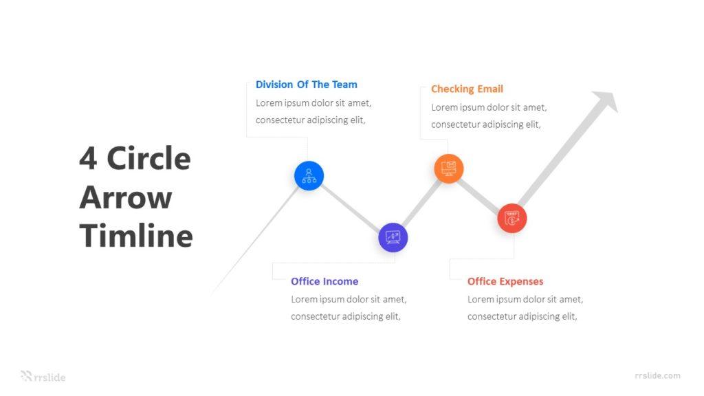 4 Arrow Timeline Concept Infographic Template