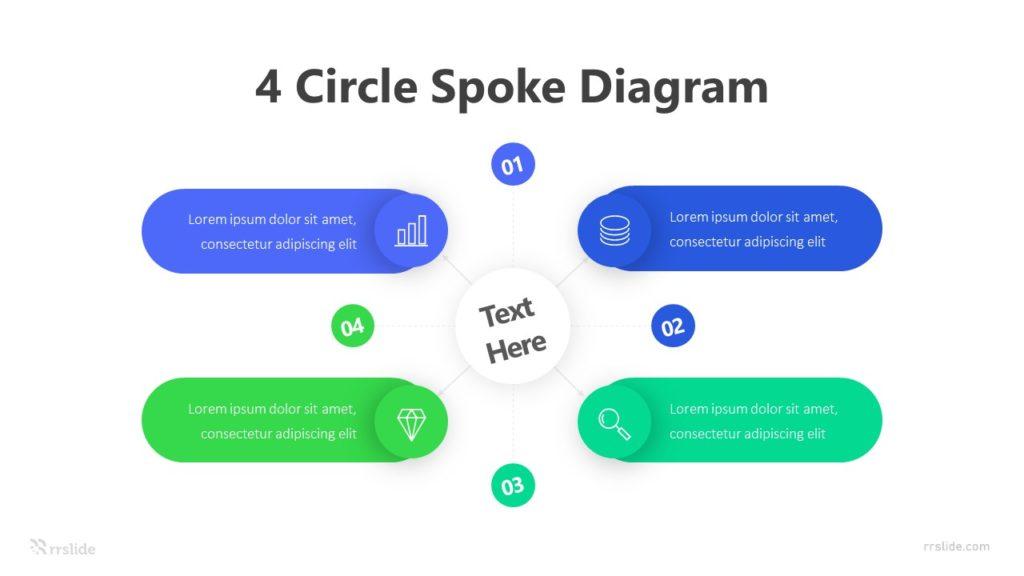 4 Circle Spoke Diagram Infographic Template