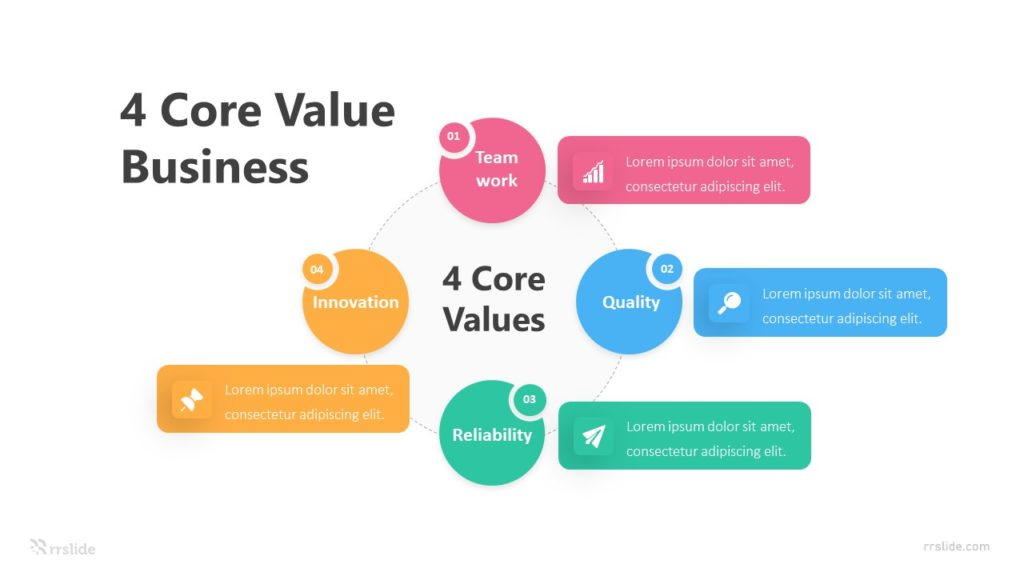 4 Core Value Business Infographic Template