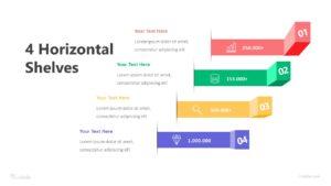 4 Horizontal Shelves Infographic Template