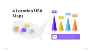 4 Location USA Maps Infographic Template